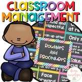 Classroom Routines and Procedures Editable {Chalkboard and