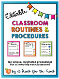 Classroom Routines and Procedures - Printable Posters for