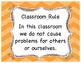 Classroom Rule
