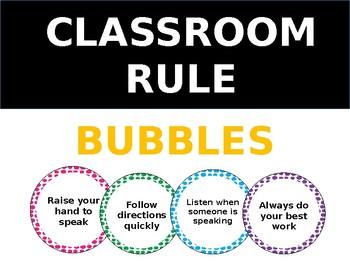 Classroom Rule Bubbles