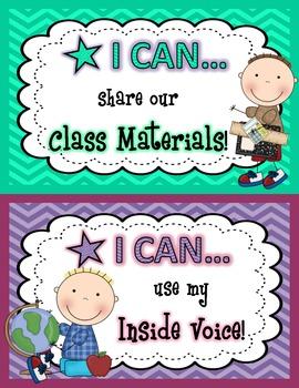 Classroom Rule Cards