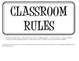 Classroom Rule Cards for your Bulletin Board