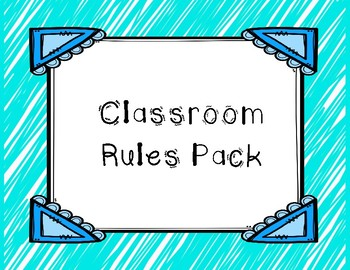 Classroom Rule Picture Rules
