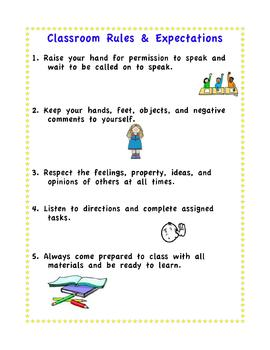Classroom Rule Poster