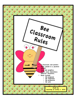 Classroom Rule Posters-4 Posters stated in a positive mann