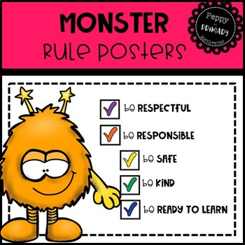 Classroom Rule Posters - Monster Edition