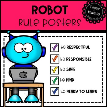 Classroom Rule Posters - Robot Edition