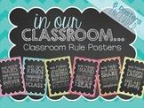 Classroom Rule Posters {Subway Art Decor}