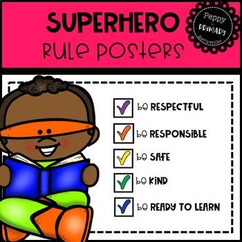 Classroom Rule Posters - Superhero Edition