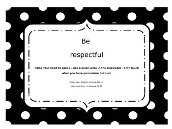 Classroom Rule Posters with Scripture