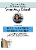 Classroom Rule Station Activities: First Day of School Sec