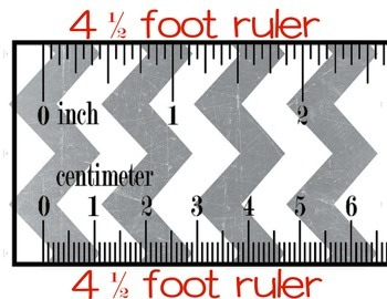 Classroom Ruler for Measuring Inches and Centimeters - Includes Craftivity