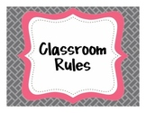 {Classroom Rules}