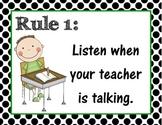 Classroom Rules Prints
