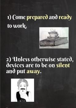 Classroom Rules- 1, 2, 4