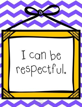 Classroom Rules - Respectful, Responsible, and Safe