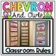 Classroom Rules Display in Owls and Chevron Classroom Decor Theme {EDITABLE}