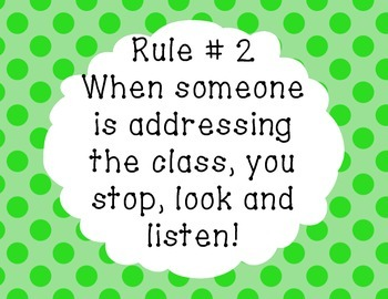Printable Classroom Rules