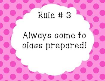 Printable Classroom Rules
