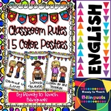 Classroom Rules (15 Color Posters)