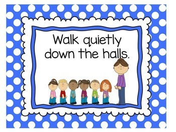 Classroom Rules Posters | Class Rules Posters | Polka Dot Theme