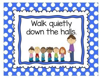 Polka Dot Classroom Decor | Rules