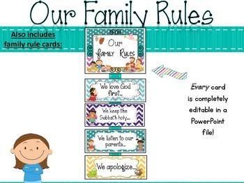 Classroom Rules Classroom Decor Set