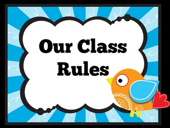 Classroom Rules Posters | Class Rules Posters | Classroom Management