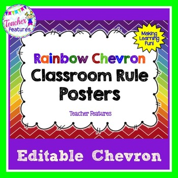 Editable Class Rules: Rainbow Chevron (Plain)
