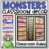 Classroom Rules {Monsters Classroom Decor Theme}