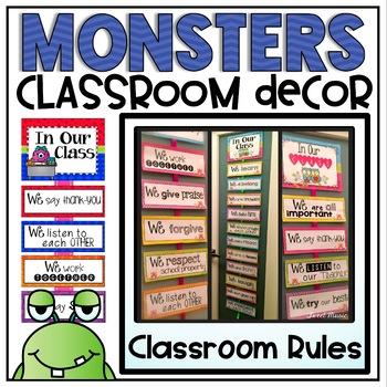Classroom Rules {Monsters Classroom Decor Theme}