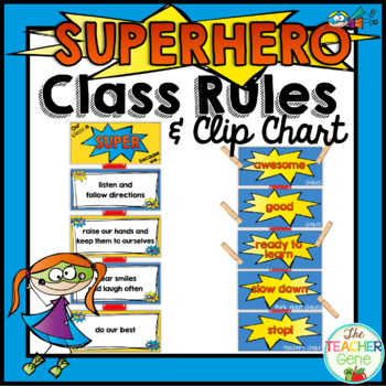 Super Hero Classroom Rules By The Teacher Gene Tpt