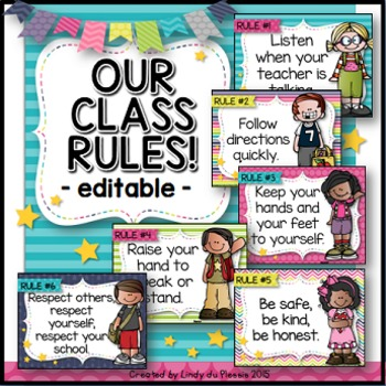 Classroom Rules (Happy and Bright Theme)