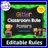 Editable Class Rules: Glitter Themed