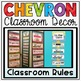 Classroom Rules Display {Primary Colors Chevron Classroom