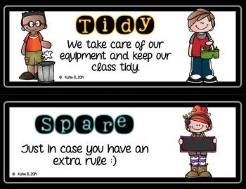 Classroom Rules Editable Clipchart