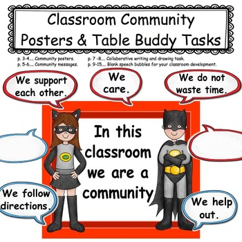 Classroom Community: Posters and Collaborative Writing Task