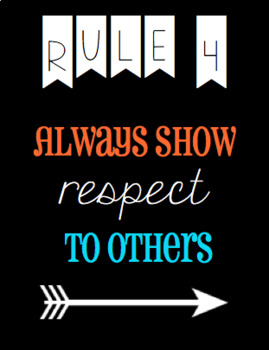 Bold, Bright Colors Classroom Rules