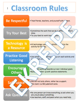 Classroom Rules- Poster and Contract