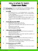 Back-to-School Classroom Rules PK, K, 1st, 2nd, bilingual