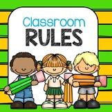 Back-to-School Classroom Rules PK, K, 1st, 2nd, bilingual
