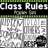 Classroom Rules: Poster Set