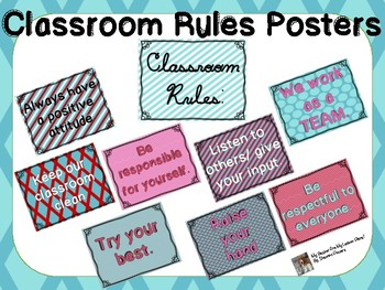 Colorful Classroom Rules that WORK!