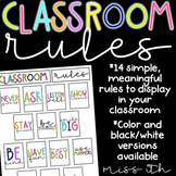 Classroom Rules or Expectations