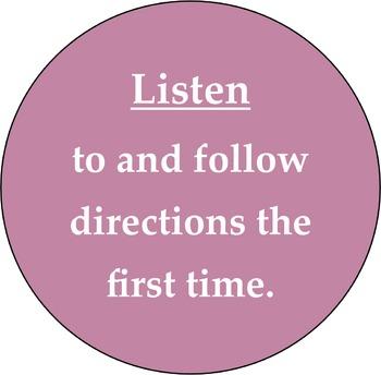 Classroom Rules 4 Circles
