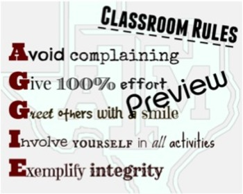 Classroom Rules (AGGIE)