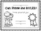 Character Education on Classroom Rules: Activities with Readers  (K-3)