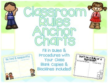 Classroom Rules Anchor Chart Templates