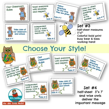 Classroom Rules -Anchor Charts to Display Rules-[Classroom Management]