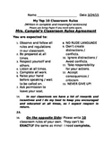 Classroom Rules Assignment